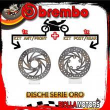 BRDISC-578 KIT DISCHI FRENO BREMBO DERBI RAMBLA 2011- 300CC [ANTERIORE+POSTERIORE] [FISSO/FISSO]