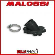 0213662B COLLETTORE ASPIRAZIONE MALOSSI RACING D. 22 - 28 AEON MOTOR COBRA 50 2T (AT70) LUNGHEZZA 29 INCLINATO IN FKM -