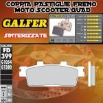 FD399G1380 PASTIGLIE FRENO GALFER SINTERIZZATE POSTERIORI SYM JOYMAX 300 i EVO 09-