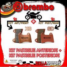 BRPADS-28022 KIT PASTIGLIE FRENO BREMBO SYM SB 2014- 250CC [XS+SD] ANT + POST