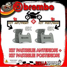 BRPADS-16114 KIT PASTIGLIE FRENO BREMBO HM CR SUPERMOTARD 2004- 125CC [SX+SX] ANT + POST
