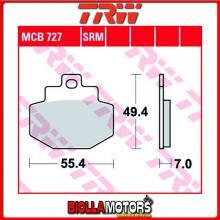 MCB727 PASTIGLIE FRENO POSTERIORE TRW Piaggio 125 Hexagon 4T 2002-2003 [ORGANICA- ]