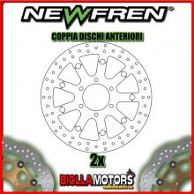 2-DF5270AFV COPPIA DISCHI FRENO ANTERIORE NEWFREN TRIUMPH SPEED TRIPLE 885cc EFI T509 up to 141871 1997-1998 FLOTTANTE VINTAGE