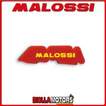 1414497 SPUGNA FILTRO ARIA MALOSSI DERBI GP1 50 2T LC DOPPIO STRATO DOUBLE RED SPONGE PER FILTRO ORIGINALE -