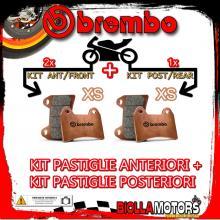 BRPADS-293 KIT PASTIGLIE FRENO BREMBO GILERA GP 800 2007- 800CC [XS+XS] ANT + POST