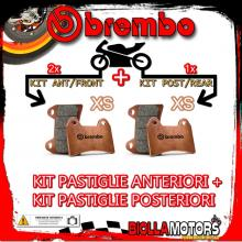 BRPADS-575 KIT PASTIGLIE FRENO BREMBO PIAGGIO MP3 2006-2008 125CC [XS+XS] ANT + POST
