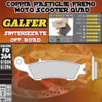 FD364G1396 PASTIGLIE FRENO GALFER SINTERIZZATE ANTERIORI YAMAHA WR 250 F 4T 07-