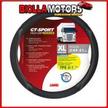 98010 LAMPA GT-SPORT, COPRIVOLANTE IN TPE - XL - ? 49/51 CM - NERO/ARGENTO