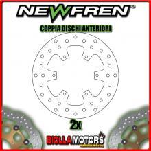 2-DF4098A COPPIA DISCHI FRENO ANTERIORE NEWFREN PIAGGIO MP3 125cc 2006-2008 FISSO