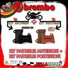 BRPADS-21390 KIT PASTIGLIE FRENO BREMBO SWM SM R 2015- 450CC [GENUINE+SD] ANT + POST