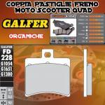 FD228G1054 PASTIGLIE FRENO GALFER ORGANICHE POSTERIORI APRILIA SR 50 RACING CATALIZADA 00-