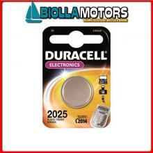 2040007 BATTERIE DURACELL CR2025 BLISTER Batterie Duracell 2025