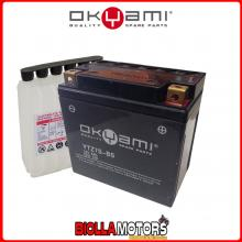 E07050 BATTERIA OKYAMI YTZ7S-BS SIGILLATA CON ACIDO YTZ7SBS MOTO SCOOTER QUAD CROSS