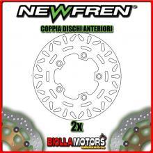 2-DF4118A COPPIA DISCHI FRENO ANTERIORE NEWFREN KYMCO XCITING 250cc 2005- FISSO