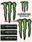 6252 Adesivo Monster Energy 6pz Standar 12x9,5 cm