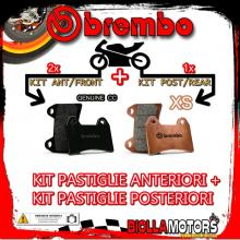 BRPADS-58 KIT PASTIGLIE FRENO BREMBO GILERA GP 800 2007- 800CC [GENUINE+XS] ANT + POST
