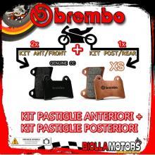 BRPADS-98 KIT PASTIGLIE FRENO BREMBO PIAGGIO X9 2000-2002 125CC [GENUINE+XS] ANT + POST