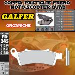 FD245G1054 PASTIGLIE FRENO GALFER ORGANICHE ANTERIORI PEUGEOT LOOXOR 05-