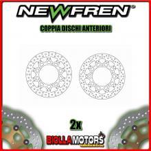 2-DF5166AFR COPPIA DISCHI FRENO ANTERIORE NEWFREN YAMAHA YZ-F 600cc R6 2005-2015 FLOTTANTE