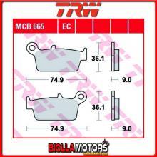 MCB665LC PASTIGLIE FRENO POSTERIORE TRW Kawasaki KLX 250 R 2006-2008 [ORGANICA- LC]