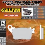FD363G1054 PASTIGLIE FRENO GALFER ORGANICHE POSTERIORI KAWASAKI ZX-6R 636 13-
