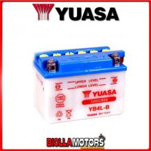 234390 BATTERIA YUASA YB4L-B SENZA ACIDO YB4LB MOTO SCOOTER QUAD CROSS