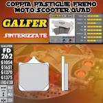 FD262G1375 PASTIGLIE FRENO GALFER SINTERIZZATE ANTERIORI CAGIVA MITO 500 08-