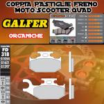 FD318G1054 PASTIGLIE FRENO GALFER ORGANICHE ANTERIORI CAN-AM OUTLANDER 800 MAX STD/XT DER./RIGHT 07-