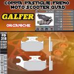 FD318G1054 PASTIGLIE FRENO GALFER ORGANICHE POSTERIORI SUZUKI LT-F/A 500 F QUADRUNNER LEFT/IZQ. 98-