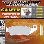 FD164G1396 PASTIGLIE FRENO GALFER SINTERIZZATE ANTERIORI KAWASAKI KLX 250 D TRACKER 00-