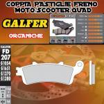 FD207G1054 PASTIGLIE FRENO GALFER ORGANICHE ANTERIORI PEUGEOT SV 250 01-02