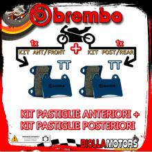 BRPADS-8714 KIT PASTIGLIE FRENO BREMBO CANNONDALE MX 2000- 400CC [TT+TT] ANT + POST