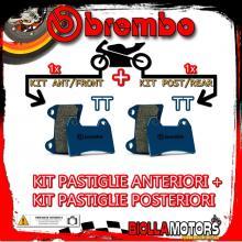 BRPADS-9550 KIT PASTIGLIE FRENO BREMBO RIEJU MRX MARATHON 2010- 250CC [TT+TT] ANT + POST