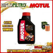 KIT TAGLIANDO 4LT OLIO MOTUL 7100 10W60 APRILIA RSV 1000 Mille 1000CC 1999-2004 + FILTRO OLIO HF152