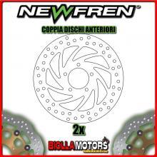 2-DF4038A COPPIA DISCHI FRENO ANTERIORE NEWFREN APRILIA SCARABEO 250cc IE 2006-2009 FISSO