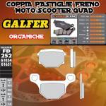 FD252G1054 PASTIGLIE FRENO GALFER ORGANICHE POSTERIORI PEUGEOT NK 7 10-