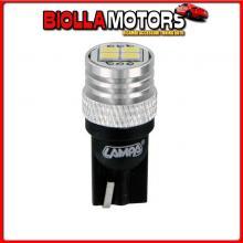 58525 LAMPA 12V MEGA-LED 12 - 4 SMD X 3 CHIPS - (T10) - W2,1X9,5D - 2 PZ - D/BLISTER - BIANCO - DOPPIA POLARIT?