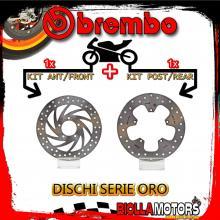 BRDISC-101 KIT DISCHI FRENO BREMBO APRILIA SCARABEO 2004-2007 125CC [ANTERIORE+POSTERIORE] [FISSO/FISSO]