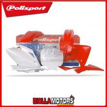 P90135 KIT PLASTICHE CARENE HONDA CRF 150 R 2011- ROSSO/BIANCO POLISPORT