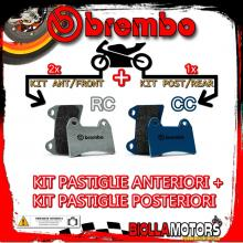 BRPADS-33778 KIT PASTIGLIE FRENO BREMBO NORTON F 1 1990- 0CC [RC+CC] ANT + POST
