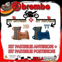 BRPADS-9812 KIT PASTIGLIE FRENO BREMBO RIEJU RS1 2001- 50CC [XS+TT] ANT + POST
