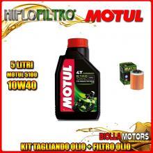 KIT TAGLIANDO 5LT OLIO MOTUL 5100 10W40 APRILIA ETV 1000 Caponord 1000CC 2001-2008 + FILTRO OLIO HF152