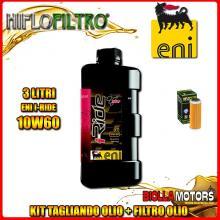 KIT TAGLIANDO 3LT OLIO ENI I-RIDE 10W60 TOP SYNTHETIC KTM 400 EXC 400CC 2008-2011 + FILTRO OLIO HF652