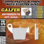 FD278G1396 PASTIGLIE FRENO GALFER SINTERIZZATE POSTERIORI HM DERAPAGE COMPETICION 09-10