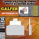 FD343G1380 PASTIGLIE FRENO GALFER SINTERIZZATE POSTERIORI PIAGGIO VESPA GTS 300 i.e. SUPER 09-