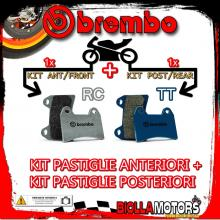 BRPADS-4842 KIT PASTIGLIE FRENO BREMBO HM CRM X SUPERMOTARD 2007- 125CC [RC+TT] ANT + POST