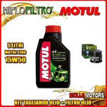 KIT TAGLIANDO 5LT OLIO MOTUL 5100 15W50 DUCATI 1200 Monster R 1200CC 2016- + FILTRO OLIO HF153