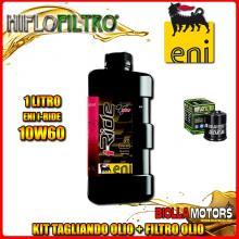 KIT TAGLIANDO 1LT OLIO ENI I-RIDE 10W60 TOP SYNTHETIC APRILIA 125 Mojito 125CC 2003-2010 + FILTRO OLIO HF183