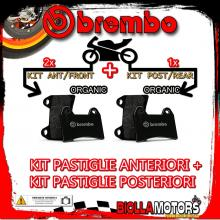BRPADS-49715 KIT PASTIGLIE FRENO BREMBO PIAGGIO MP3 IE 2008- 125CC [ORGANIC+ORGANIC] ANT + POST