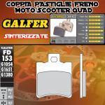 FD153G1380 PASTIGLIE FRENO GALFER SINTERIZZATE ANTERIORI HYOSUNG EXCEED 150 03-